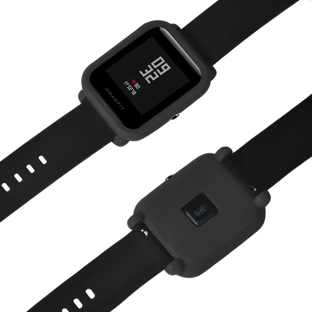 Силиконовый чехол Tamister на весь корпус для Xiaomi Amazfit BIP Черный (1010601)