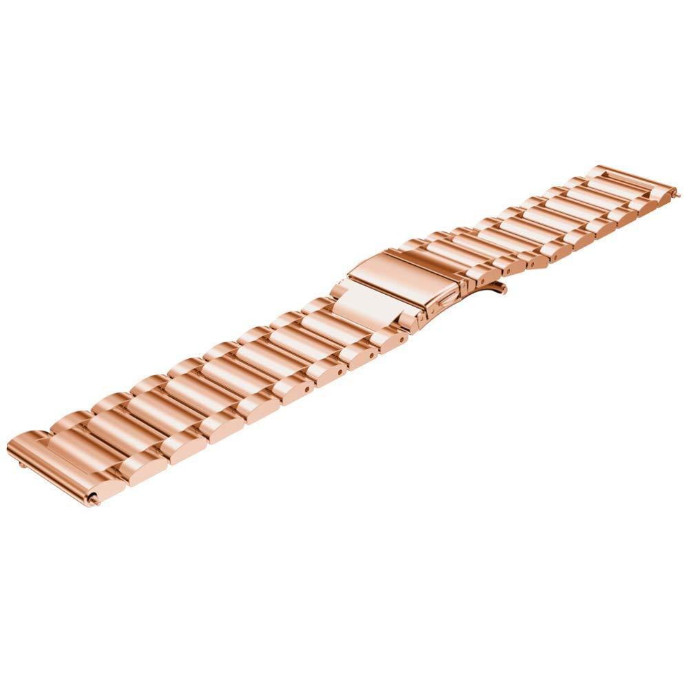 Ремешок для смарт-часов стальной BeWatch Xtra 22мм универсальный РозовоеЗолото (1020438)