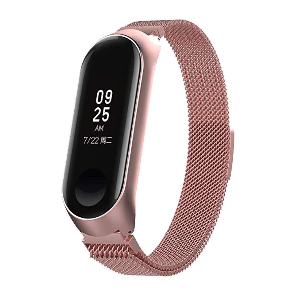 Ремешок BeWatch миланская петля для Xiaomi Mi Band 3 размер L Розовый (1040311)