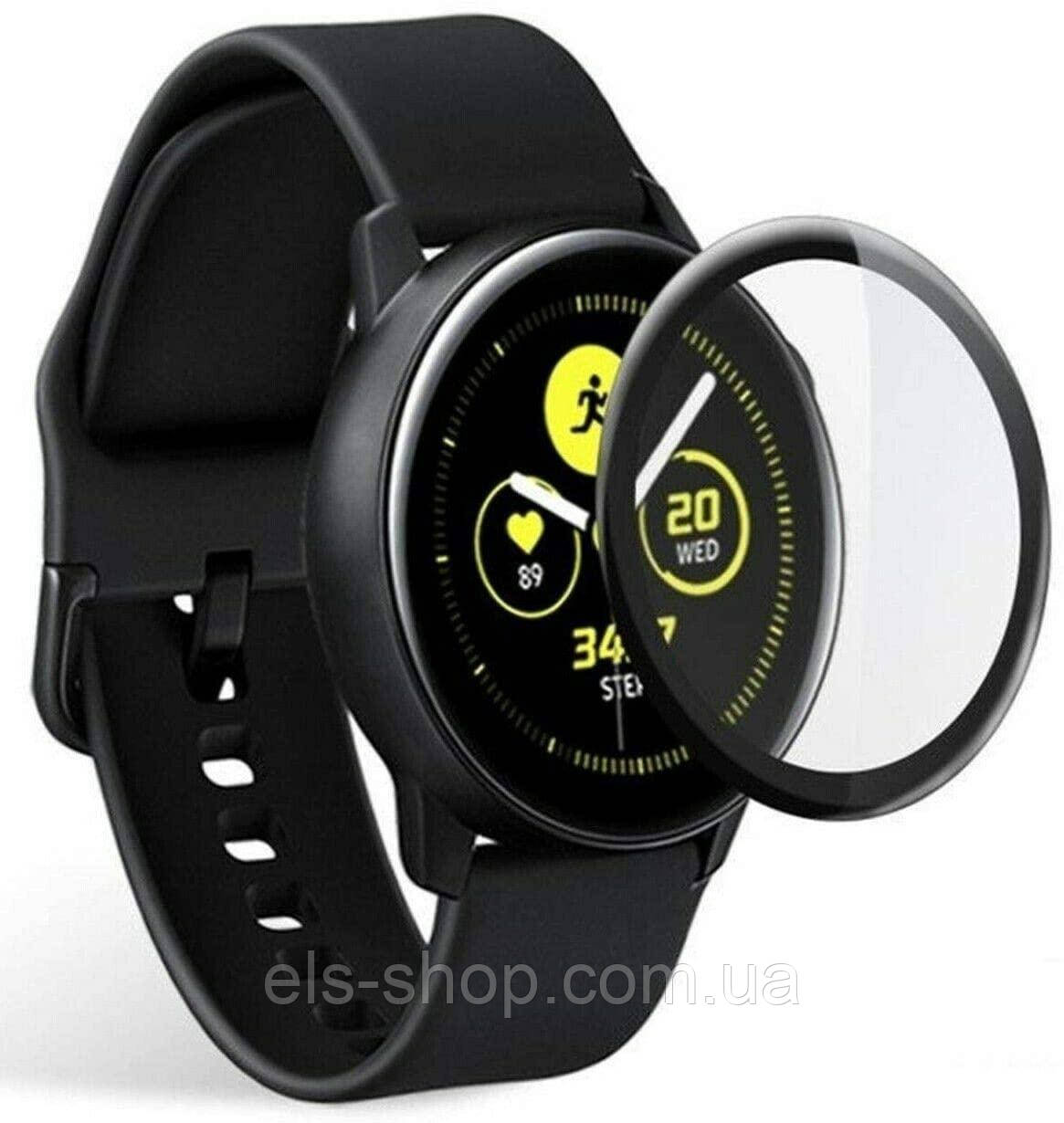 Защитная пленка 3D для Samsung Galaxy Watch Active 44 mm полное покрытие изогнутая (1027706)