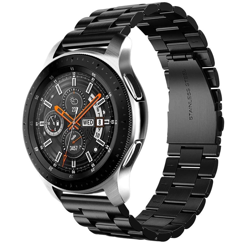 Стальной ремешок шириной 20мм  BeWatch Classic для Samsung Galaxy Watch 42мм Черный (1110401)