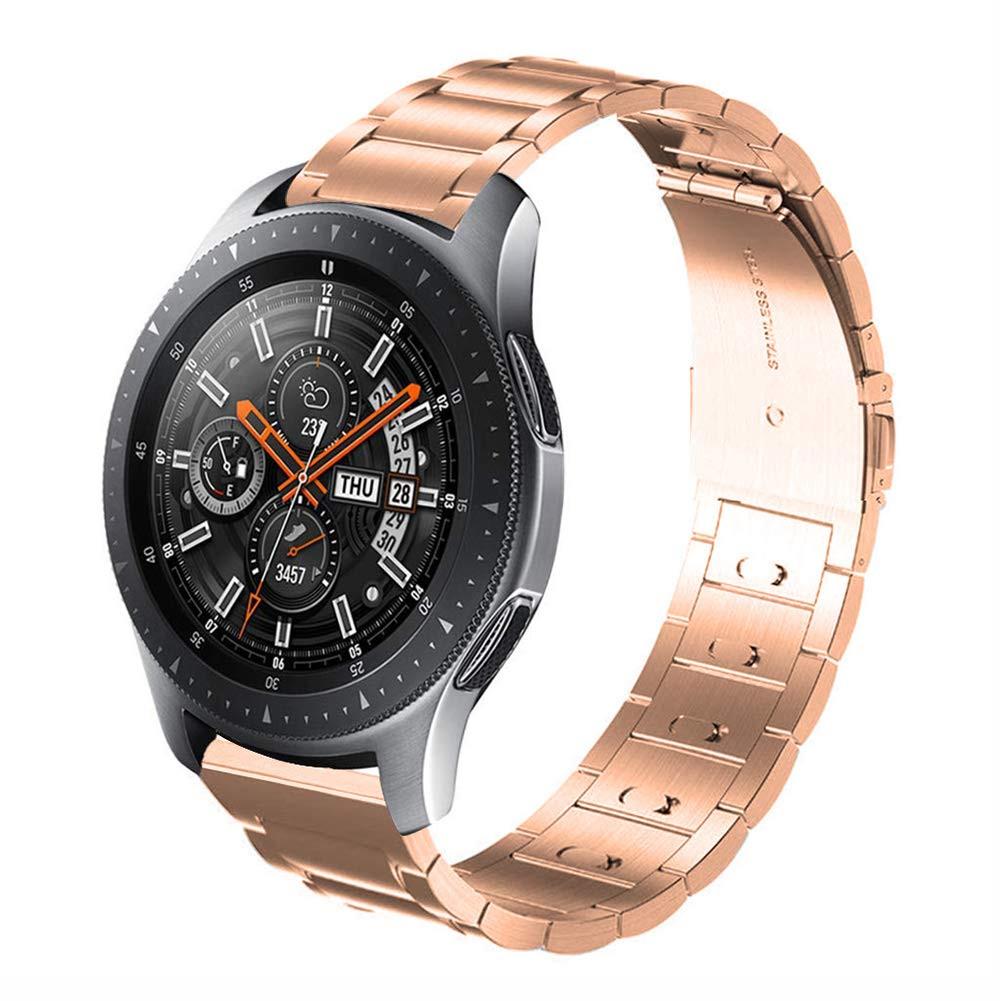 Ремешок стальной браслет BeWatch Classic Xtra 20мм для Samsung Galaxy Watch 42мм RoseGold (1110438)