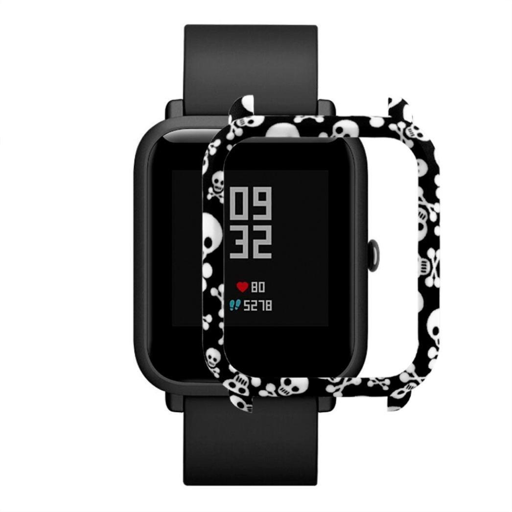 Накладка бампер для часов Xiaomi Amazfit Bip Череп (1010599)