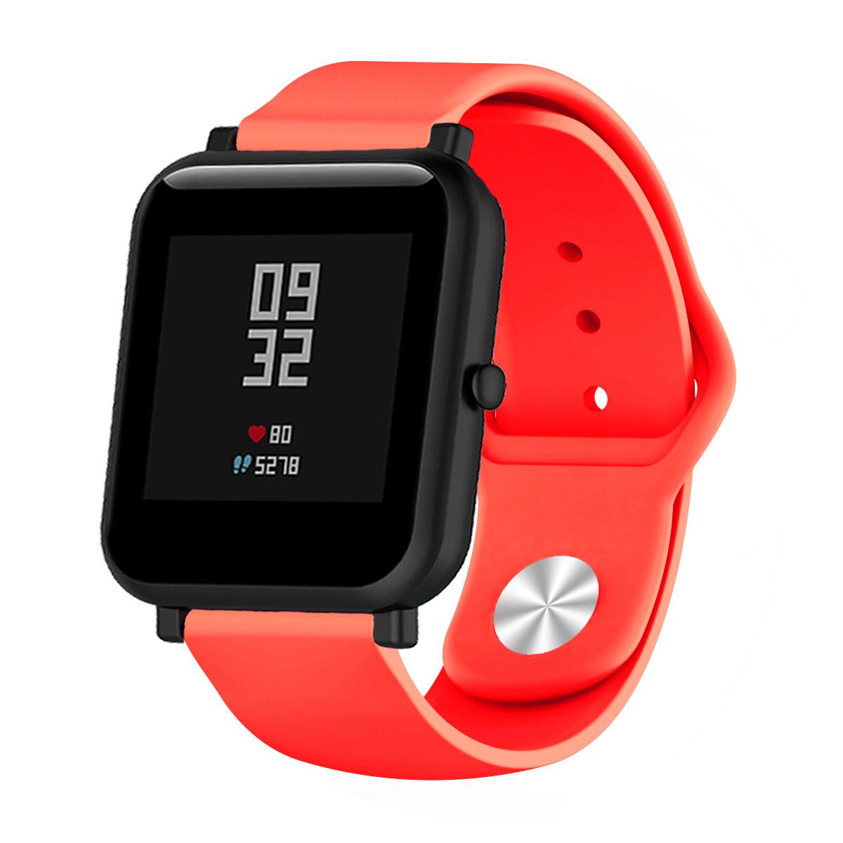 Ремешок BeWatch силиконовый для Xiaomi Amazfit BIP   GTS   GTR 42mm Красный (1010303)