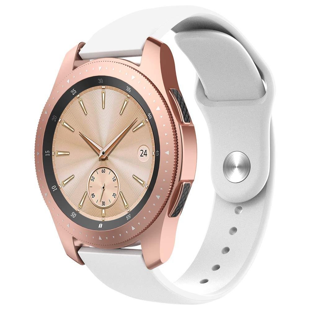 Ремешок BeWatch силиконовый для Samsung Galaxy Watch 42 мм Белый (1010302.2)