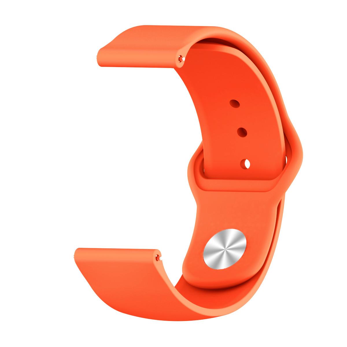 Ремешок BeWatch силиконовый для Samsung Galaxy Watch 42 мм Оранжевый (1010307.2)