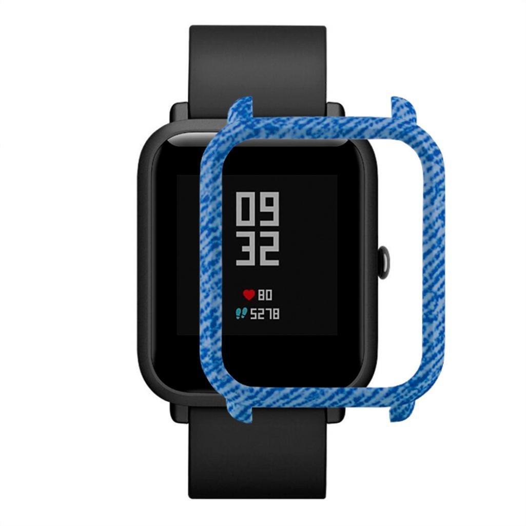 Накладка бампер для часов Xiaomi Amazfit Bip Джинс (1010597)