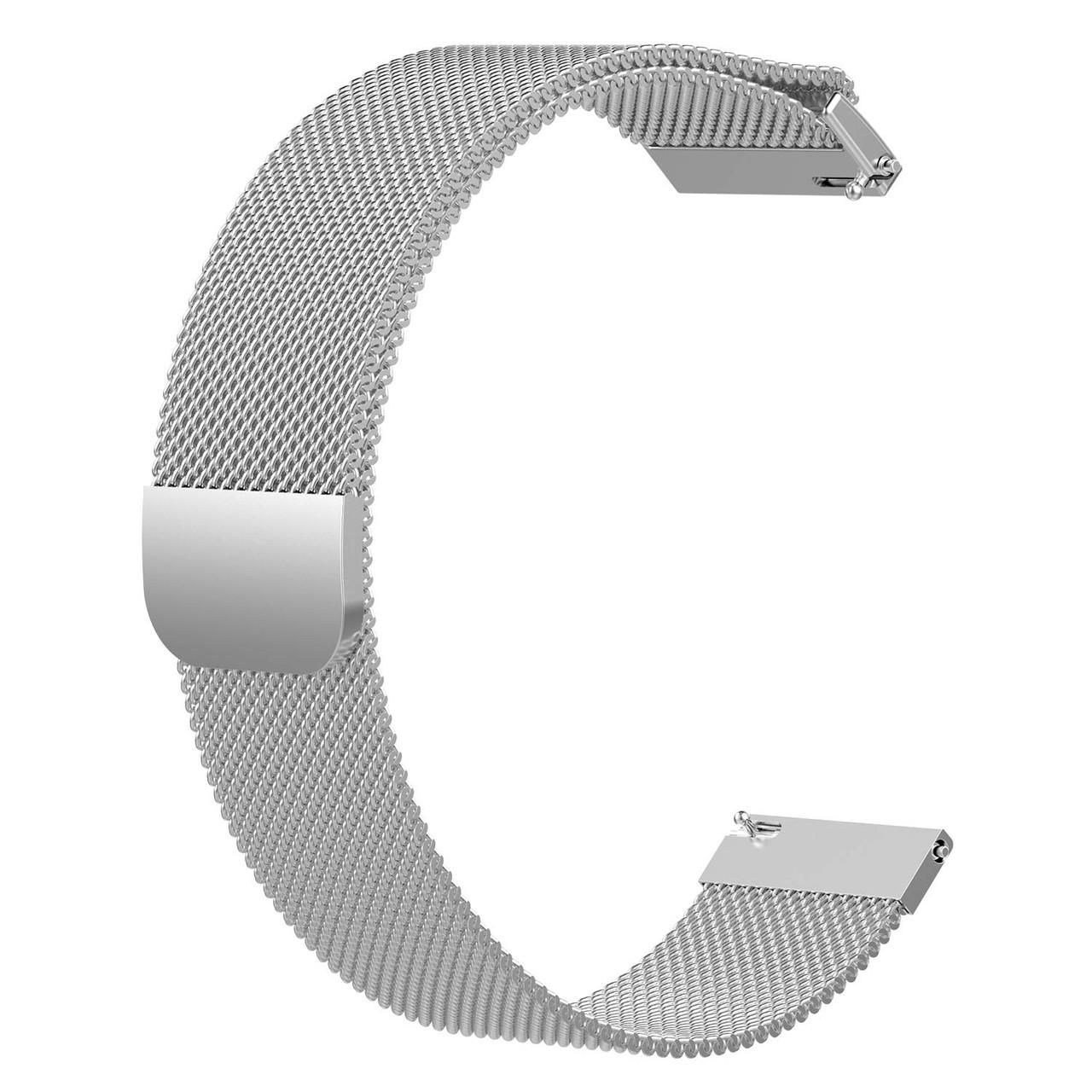 Ремешок универсальный шириной 20мм BeWatch миланская петля | milanesse loop для смарт-часов Серебристый (1010218)