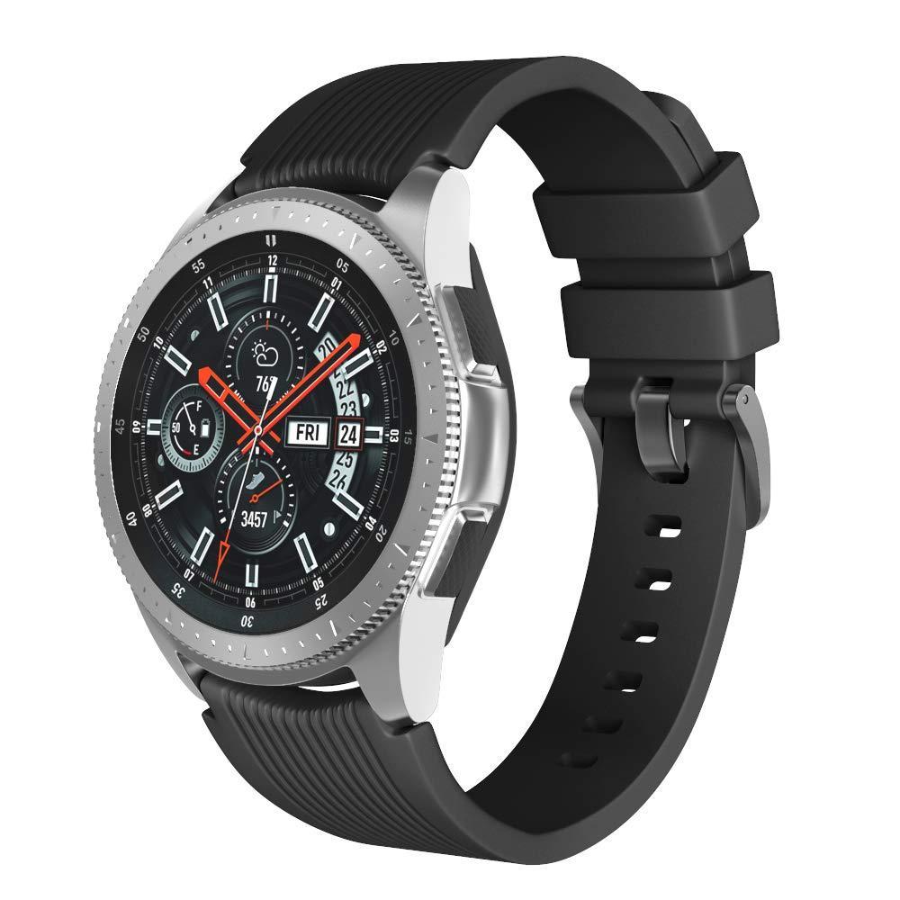 Ремешок силиконовый BeWatch шириной 22 мм для Samsung Galaxy Watch 46mm Черный (1022101)