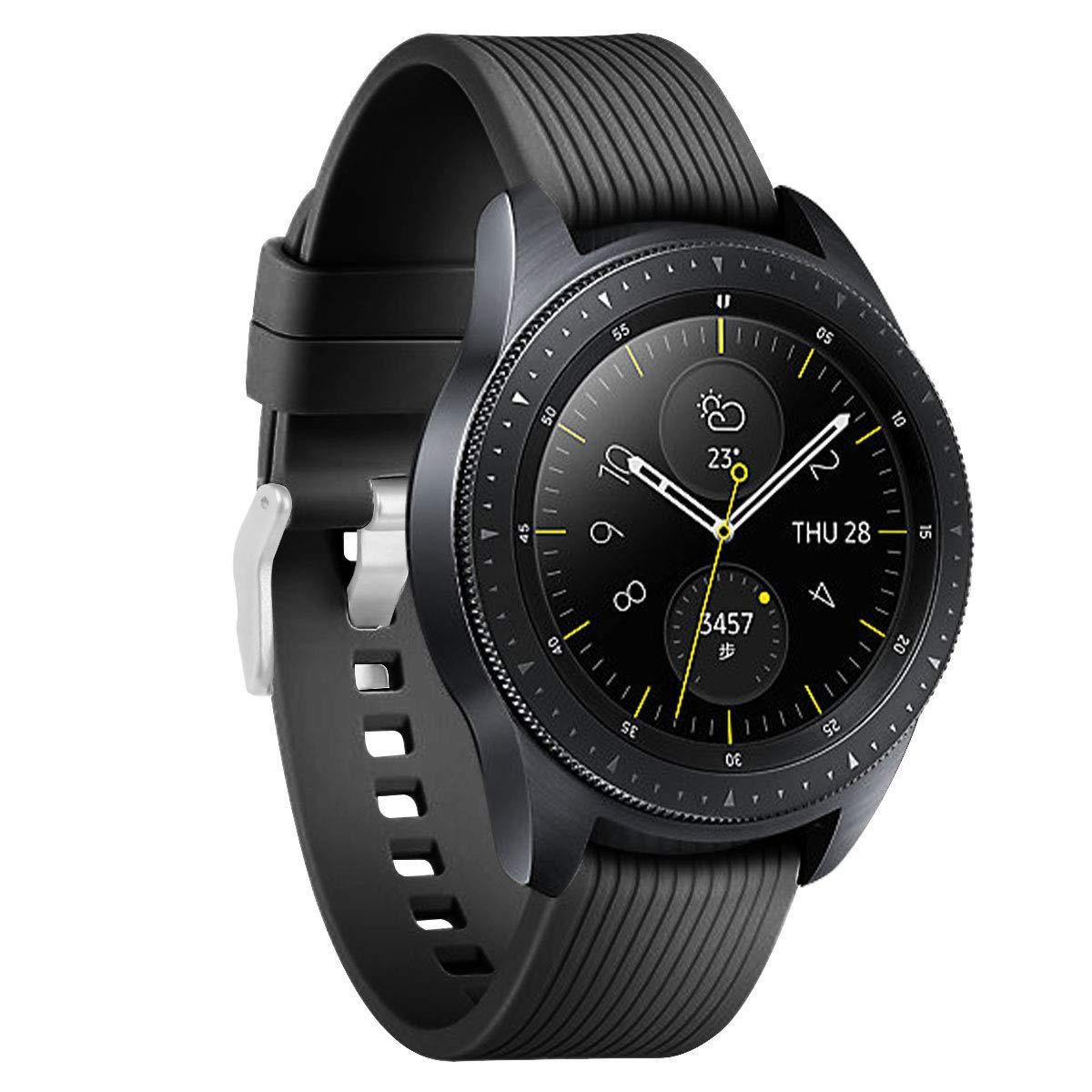 Ремешок силиконовый BeWatch  20 мм для Samsung Galaxy Watch 42 mm Черный (1012101)