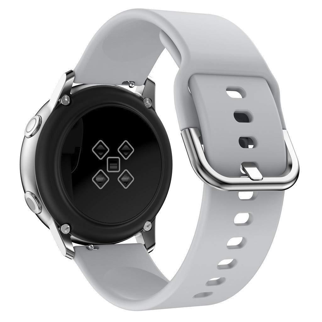Ремешок силиконовый NewColor 20мм для Samsung Galaxy Watch 42мм | Active | Active 2 Серый (1012304)