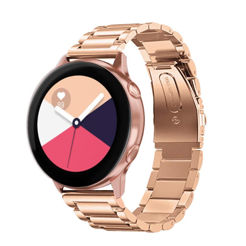 Ремешок стальной браслет BeWatch Classic Xtra 20мм для Samsung Galaxy Watch Active | Active2 40mm RoseGold (1110438)