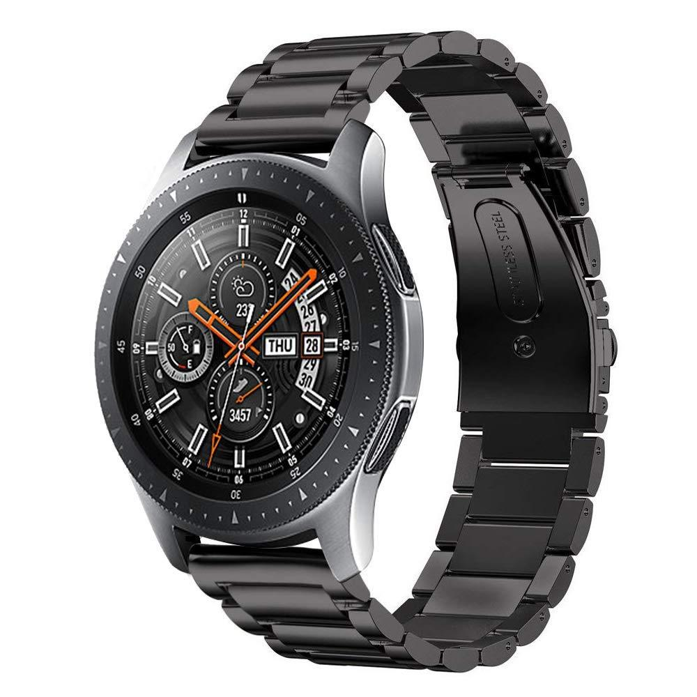 Стальной ремешок 22mm BeWatch в комплектации XTRA для Samsung Galaxy Watch 46 мм Черный (1020401)