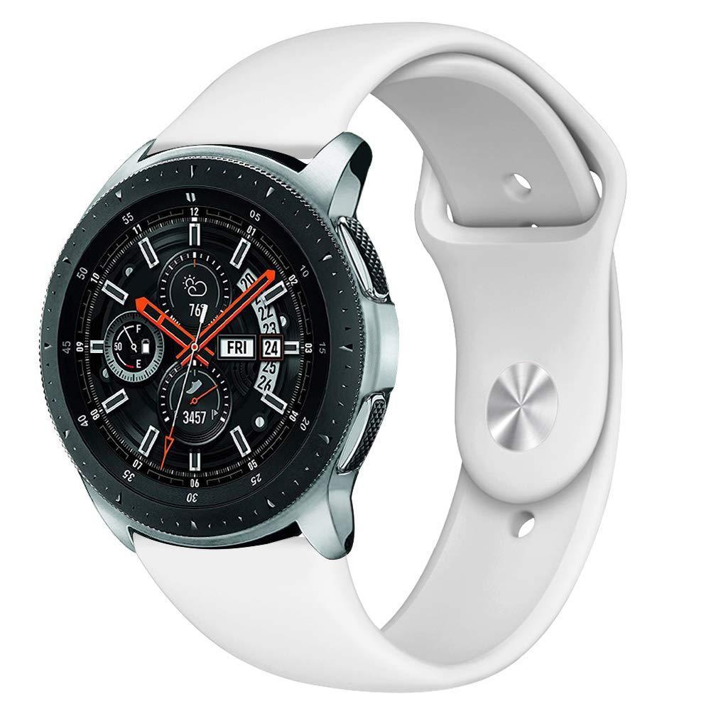 Ремінець BeWatch силіконовий для Samsung Galaxy Watch 46 мм Білий (1020302)