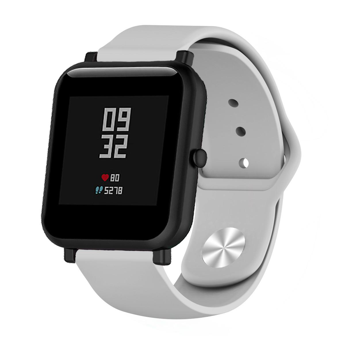 Ремешок BeWatch силиконовый для Xiaomi Amazfit BIP | GTS | GTR 42mm Серый (1010304)