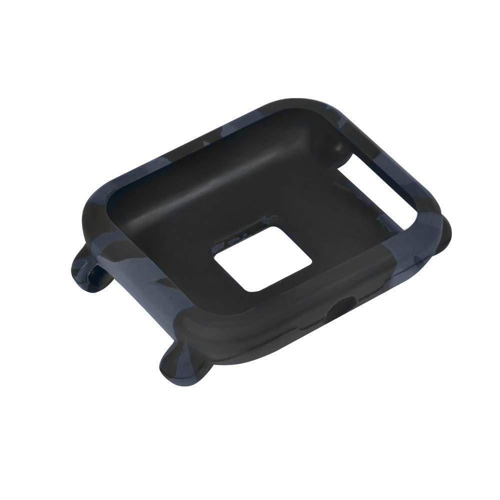 Силиконовый чехол BeWatch для Xiaomi Amazfit BIP Камо Черно-синий (1010895)