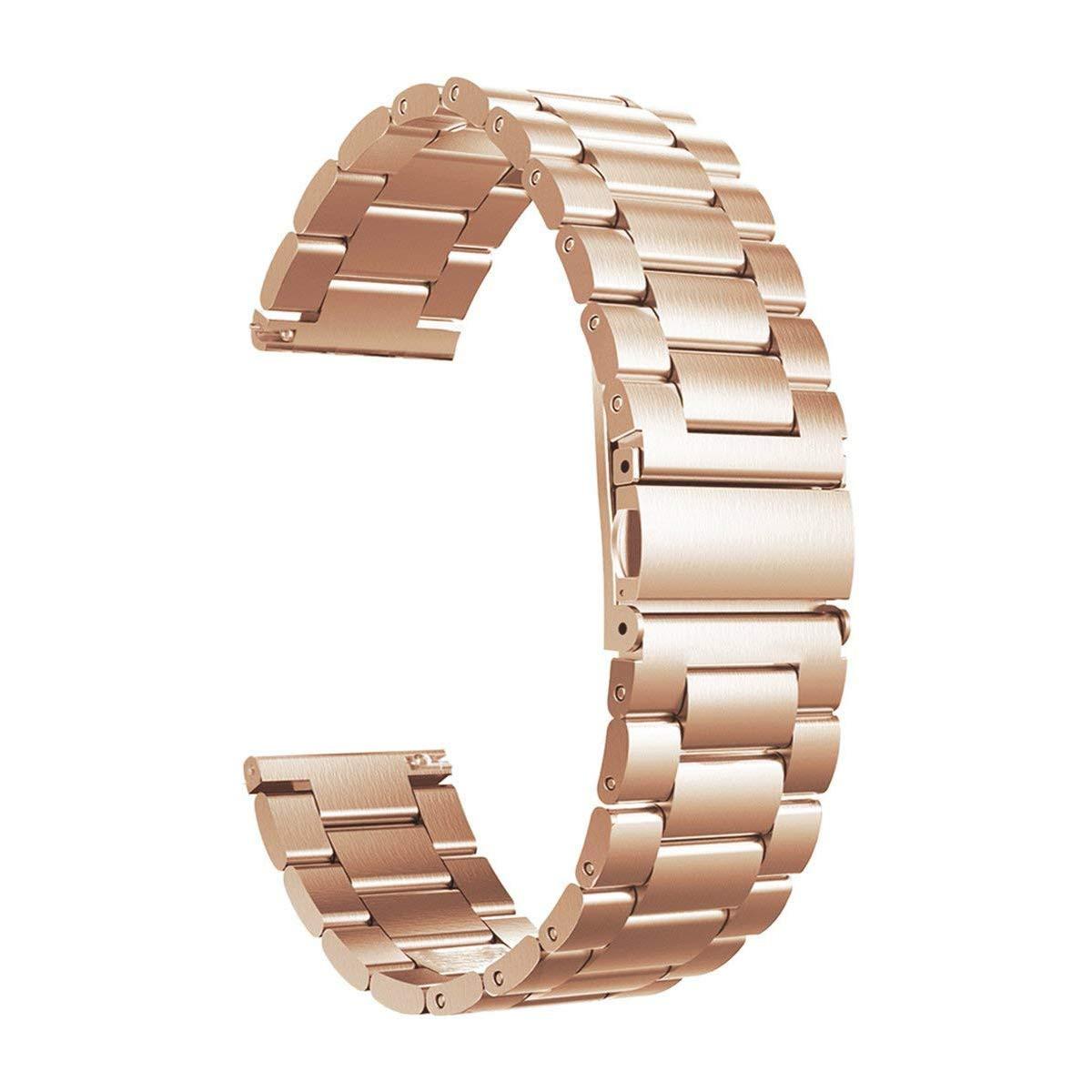 Ремешок универсальный для смарт-часов стальной BeWatch Xtra 20мм  Розовое Золото (1110438)