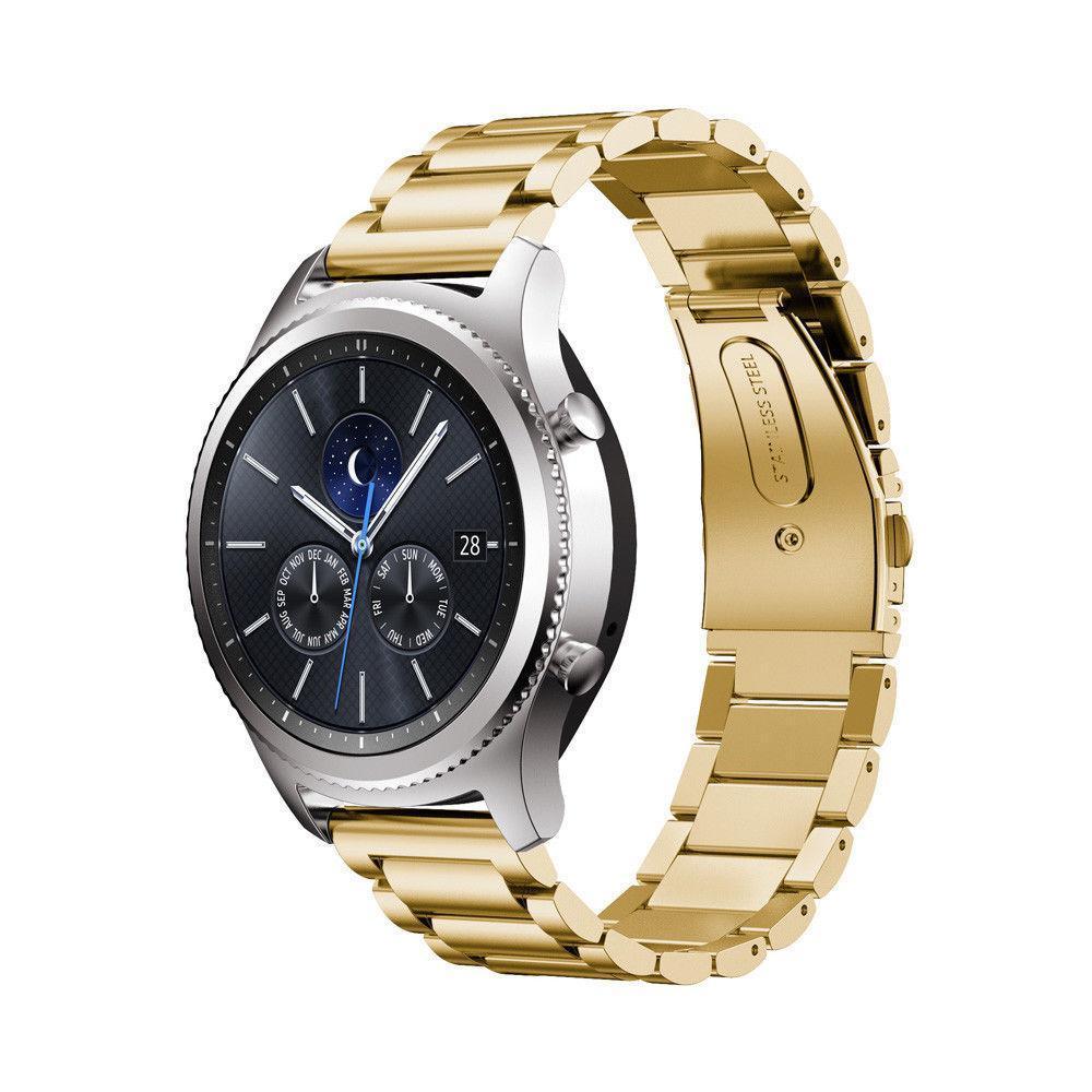 Ремешок стальной браслет BeWatch Classic Xtra 20мм для Samsung Galaxy Watch 42мм Gold (1110428)