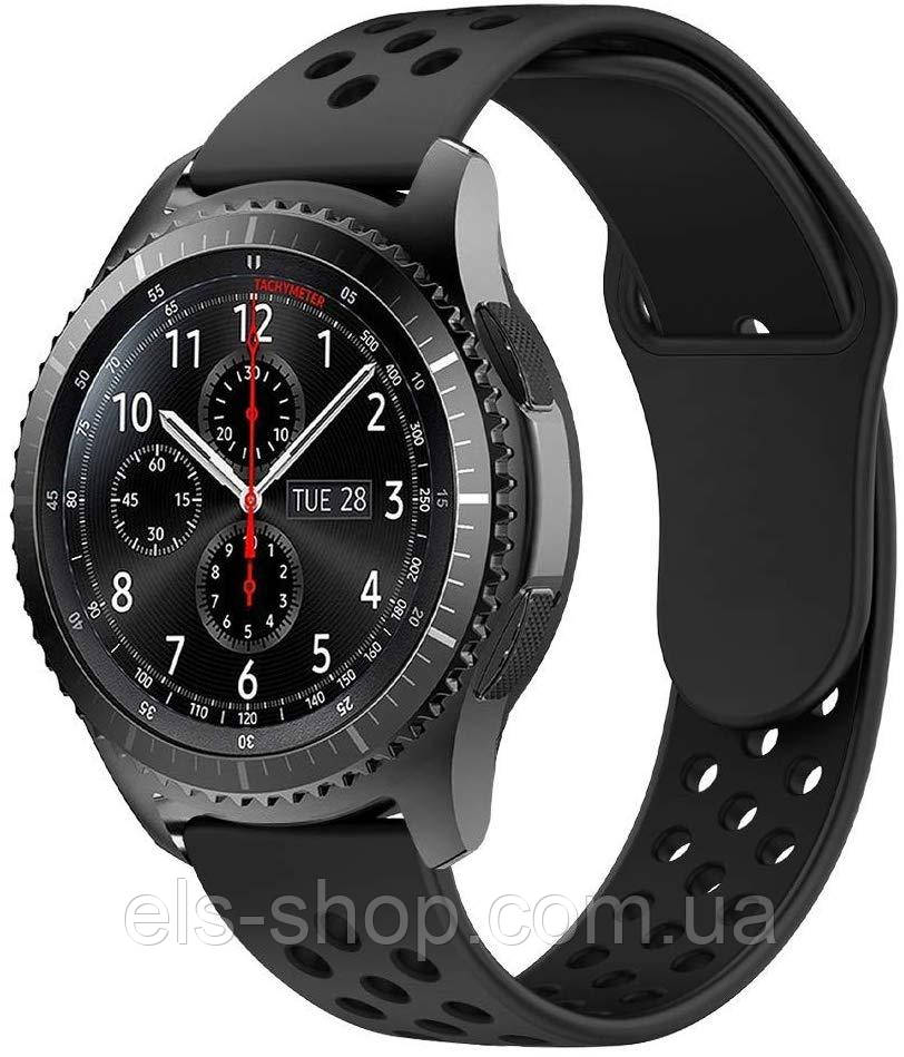 Ремешок BeWatch силиконовый 20мм для  Samsung Galaxy Watch 42mm Черно Черный (1010101)