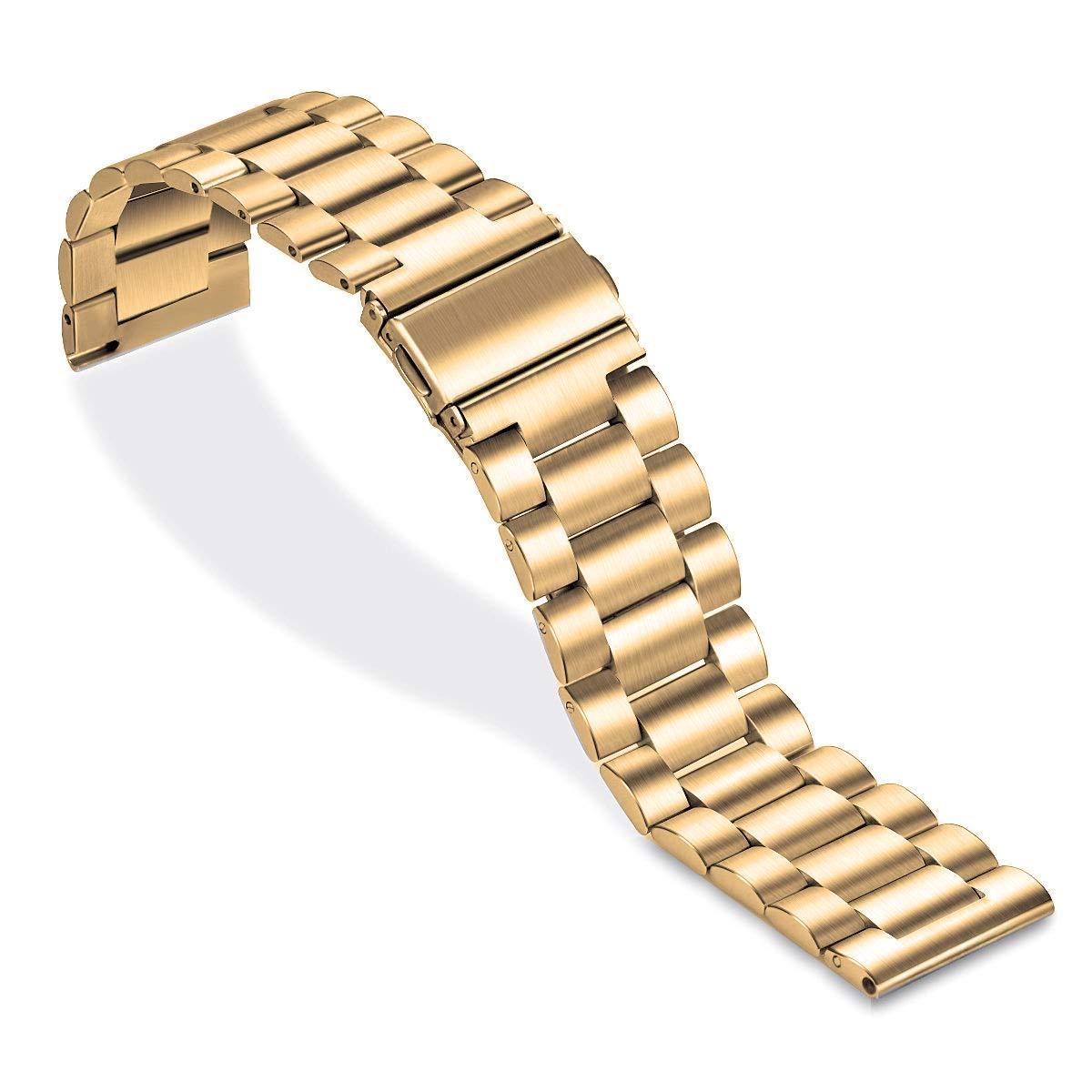 Ремешок универсальный шириной 20мм стальной браслет BeWatch classic Золото (1110428)