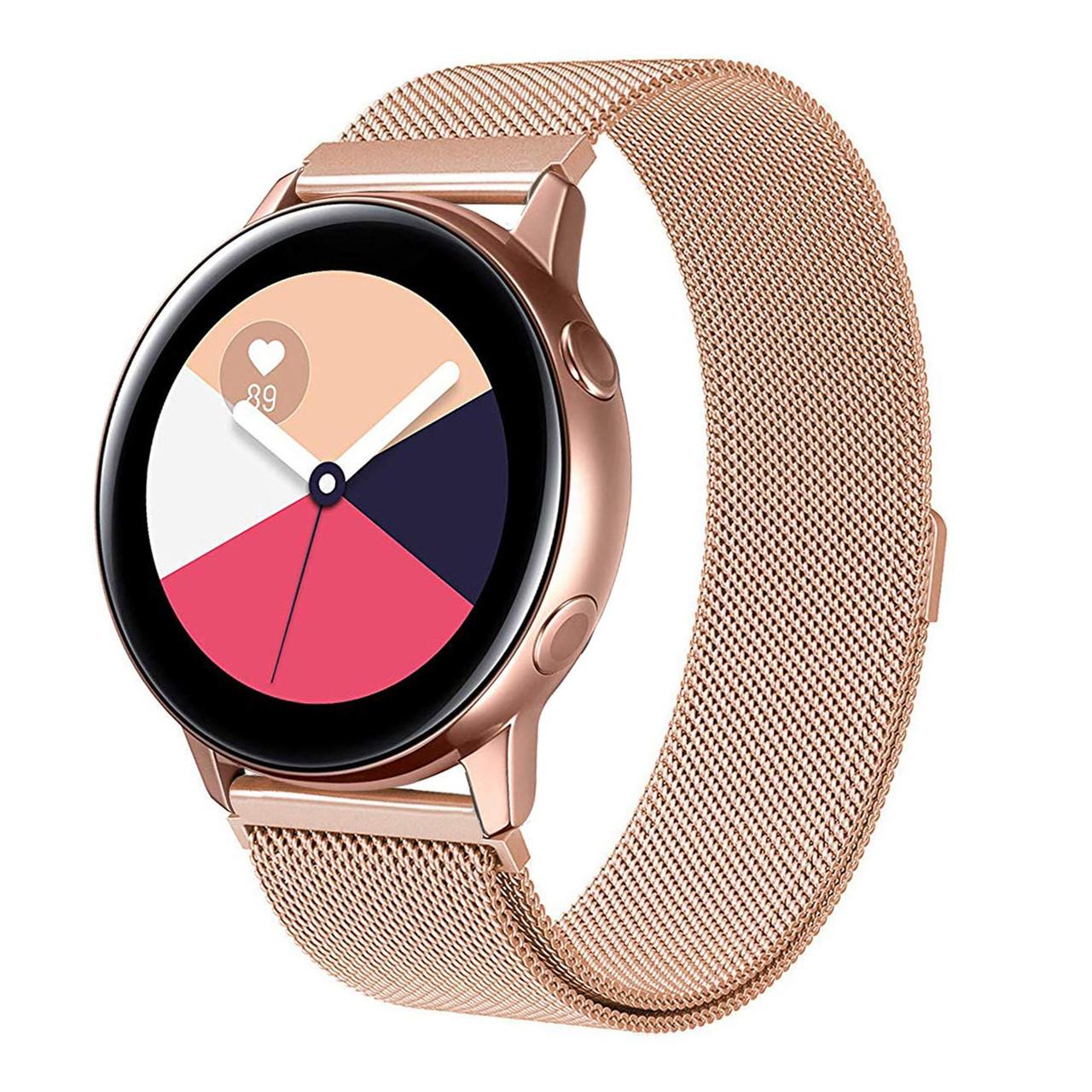 Ремешок BeWatch миланская петля 20mm для Samsung Galaxy Watch Active | Active 2 Розовое Золото (1010238)
