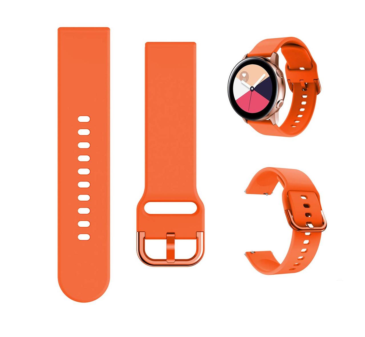 Ремешок силиконовый NewColor 20мм для Samsung Galaxy Watch 42мм | Active | Active 2  Orange (1012307)