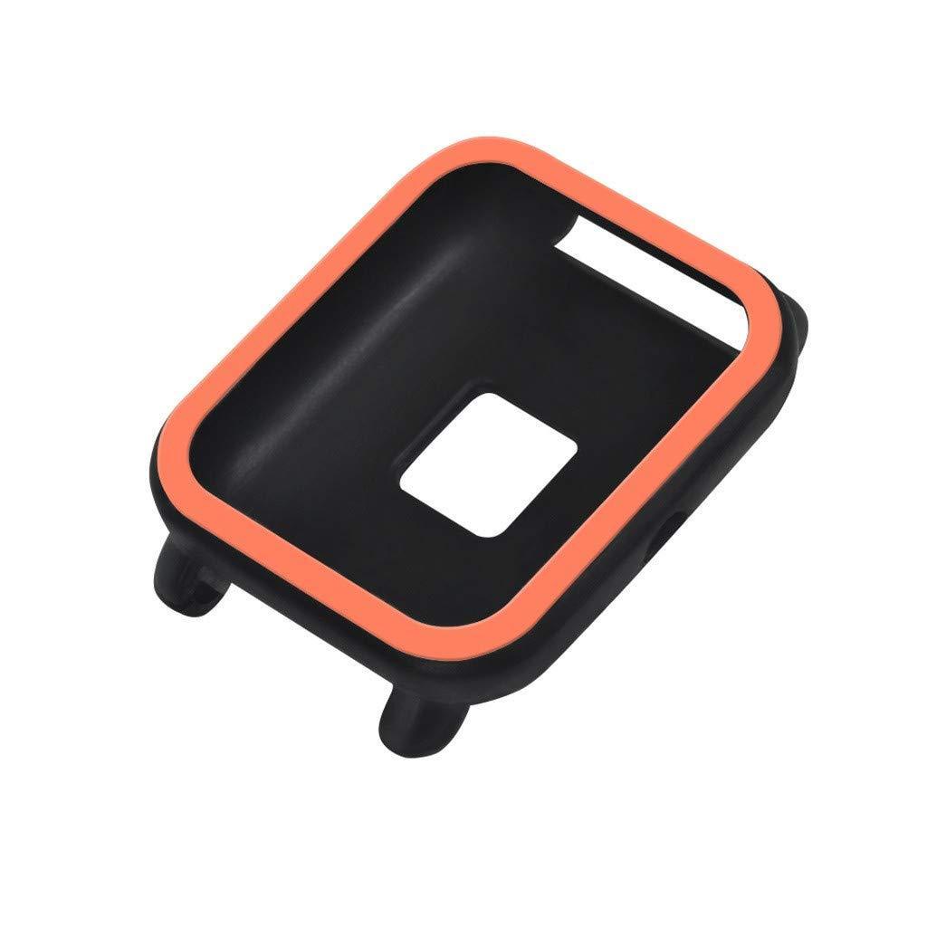 Силиконовый чехол BeWatch для Xiaomi Amazfit BIP Черно-оранжевый (1012817)
