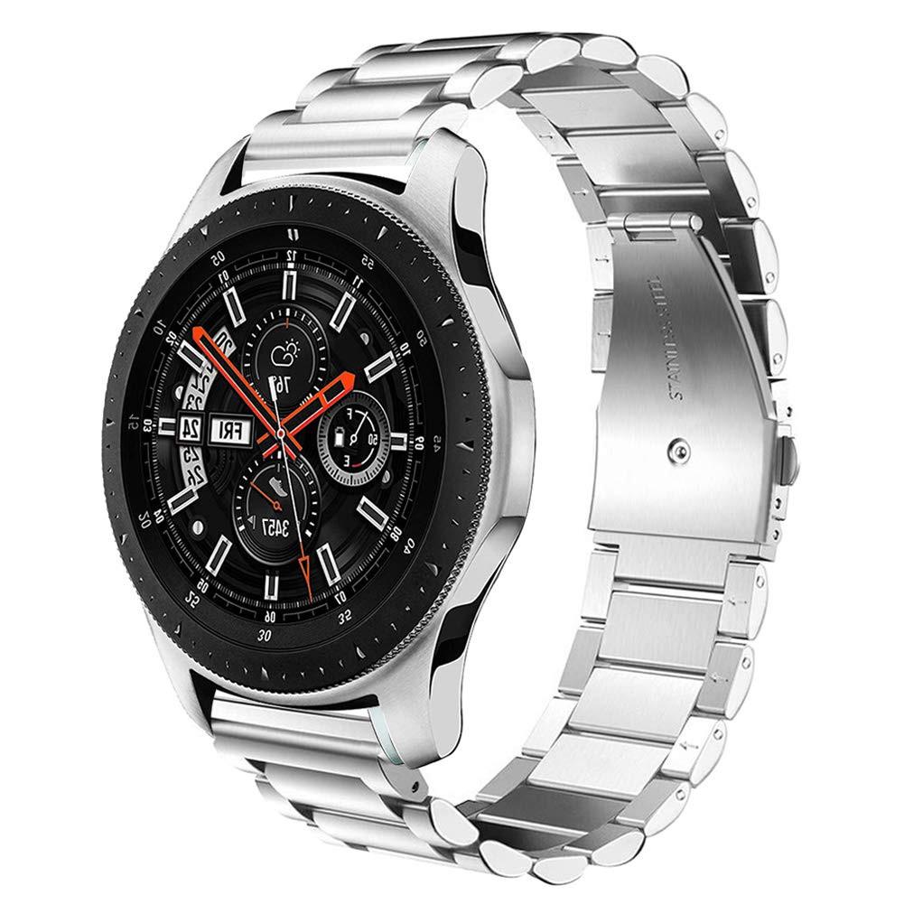Ремешок стальной браслет BeWatch Classic 20мм для Samsung Galaxy Watch 42мм Silver (1110405)