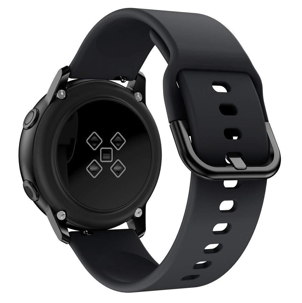 Ремешок силиконовый NewColor 20мм для Samsung Galaxy Watch 42мм | Active | Active 2  Черный (1012301)