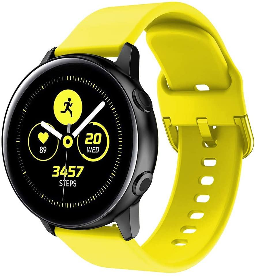 Ремешок силиконовый NewColor 20мм для Samsung Galaxy Watch 42мм | Active | Active 2  Желтый (1012320)