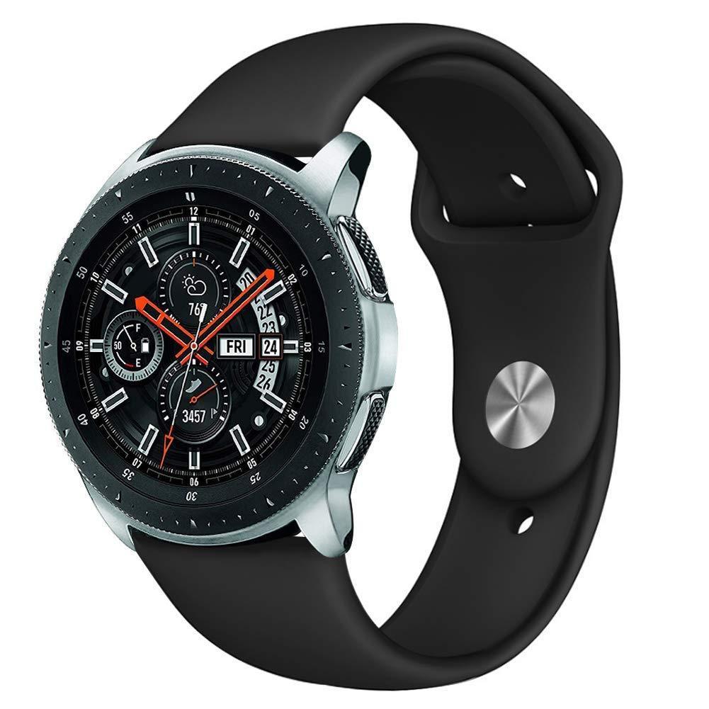 Ремешок BeWatch силиконовый для Samsung Galaxy Watch 46 мм Черный (1020301)