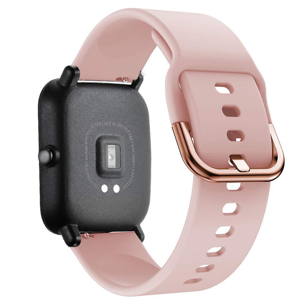 Ремешок силиконовый NewColor 20мм для Xiaomi Amazfit BIP | GTS | GTR 42mm Розовый (1012311)