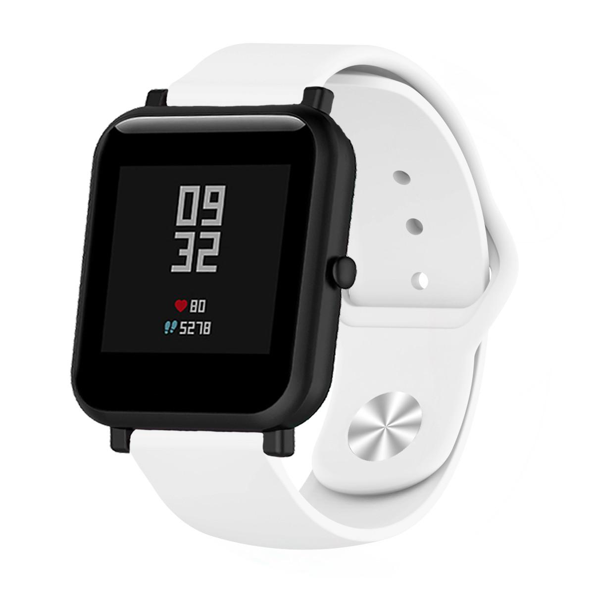 Ремешок BeWatch силиконовый для Xiaomi Amazfit BIP | GTS | GTR 42mm Белый (1010302)