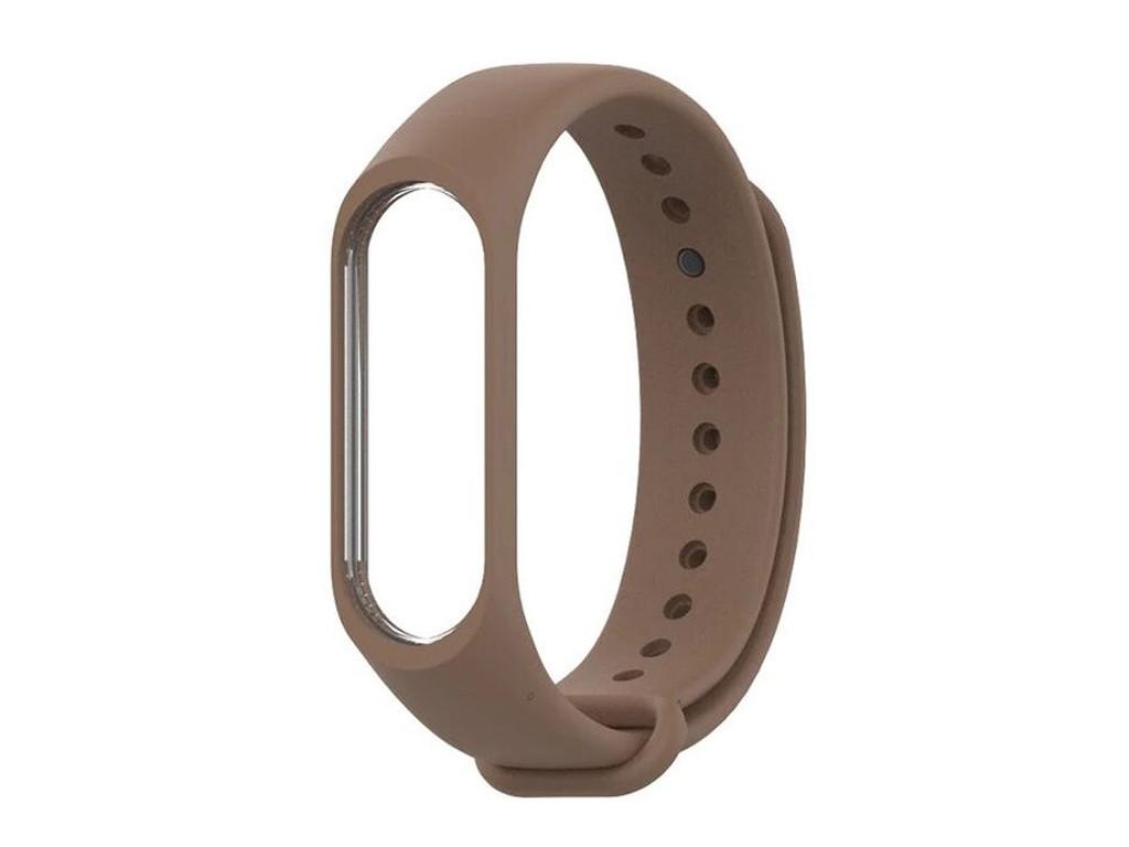 Ремешок силиконовый BeWatch  для  Xiaomi Mi Band 3 \ 4 Brown (1040606)