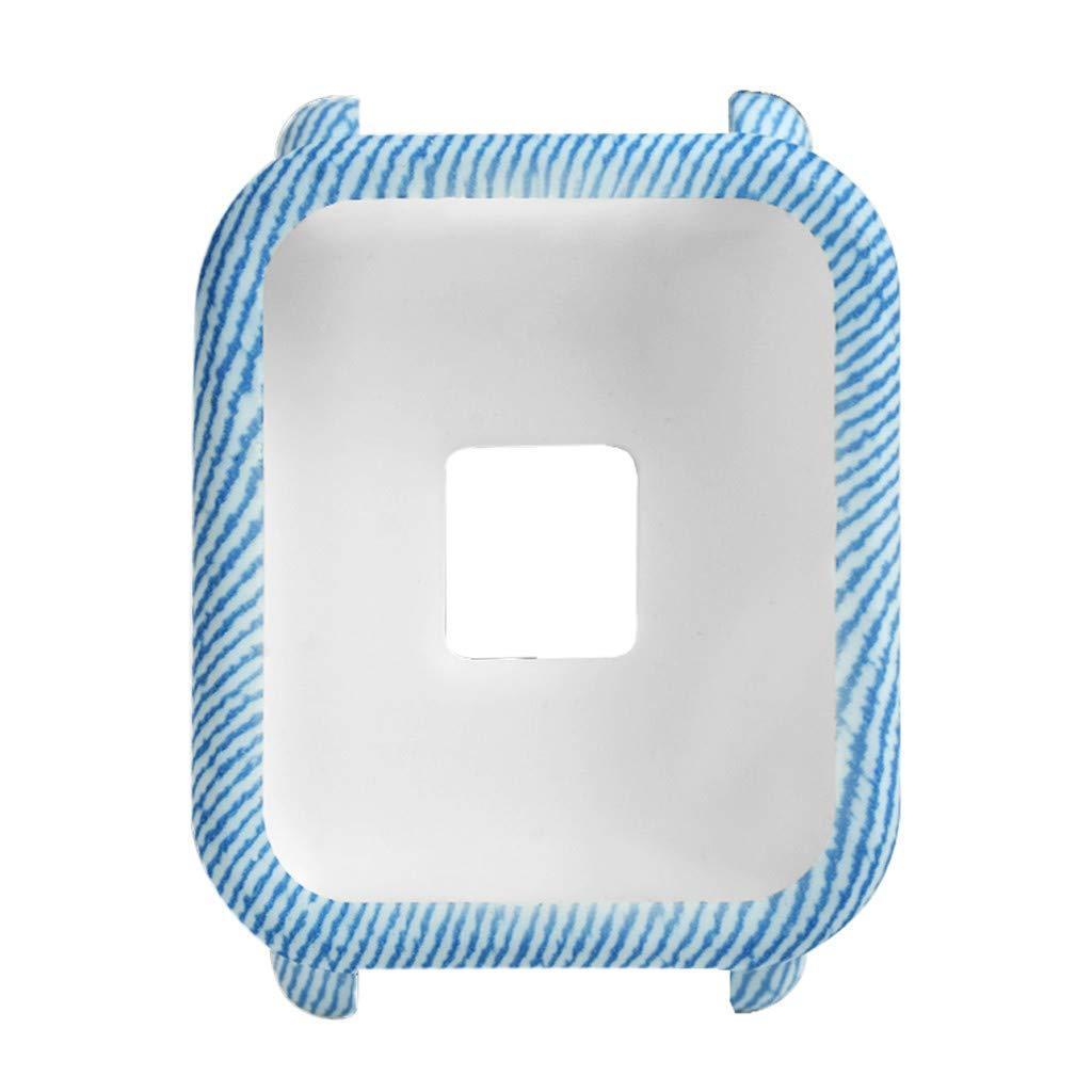 Силиконовый чехол BeWatch для Xiaomi Amazfit BIP Голубой (1010897)