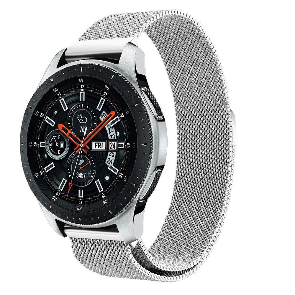 Ремешок стальной BeWatch миланская петля 20mm для Samsung Galaxy Watch 42mm Серебристый (1010218)