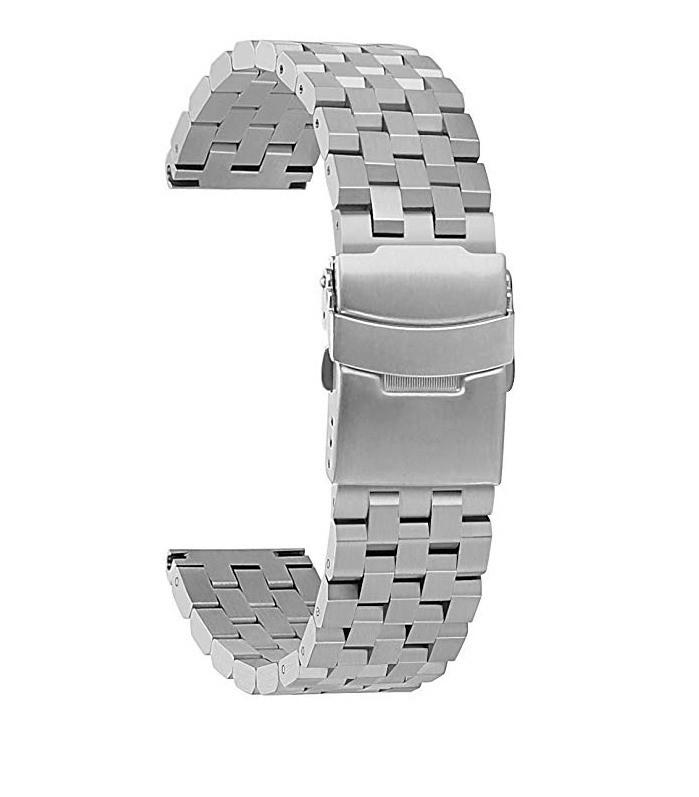 Ремешок 22мм универсальный стальной браслет BeWatch Quadro Серебристый (1024405)