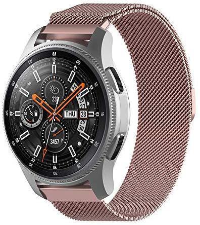 Ремешок NewColor шириной 20мм milanese стальной для Samsung Galaxy Watch 42 мм Розовый (1010211)