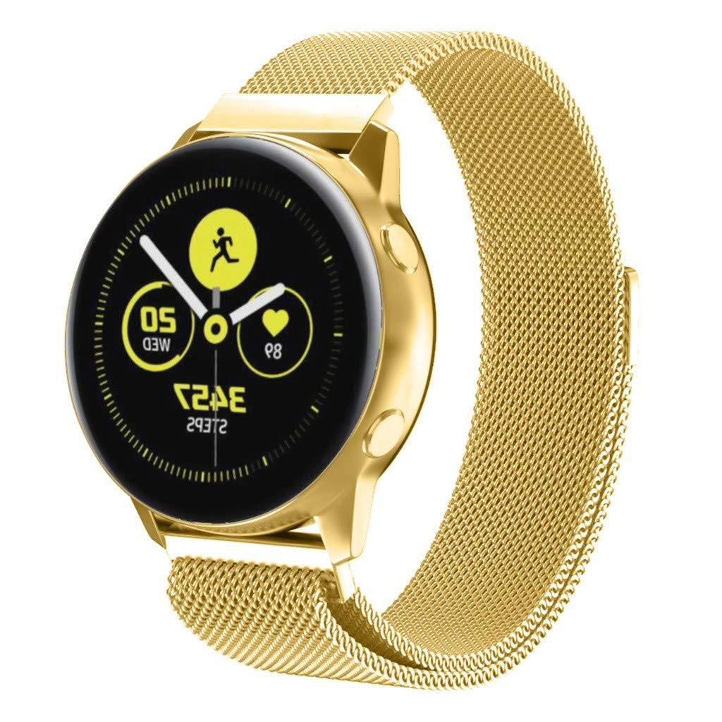 Ремешок BeWatch миланская петля 20mm для Samsung Galaxy Watch Active   Active 2 Золото (1010228)