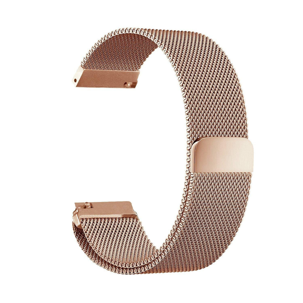 Ремешок универсальный шириной 20мм BeWatch миланская петля   milanesse loop для смарт-часов Розовое Золото (1010238)