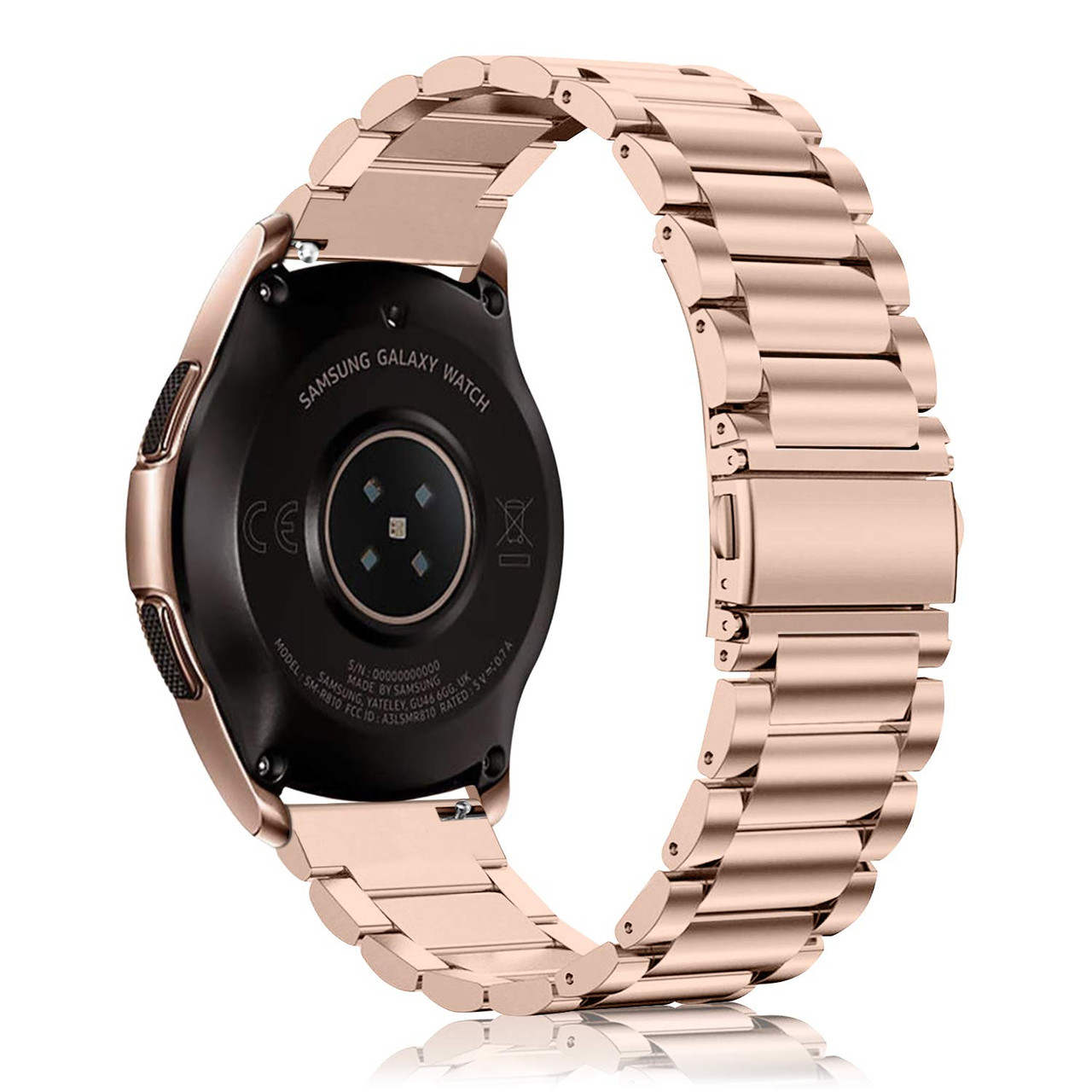 Ремешок стальной 22мм BeWatch для Samsung Galaxy Watch 46mm РозовоеЗолото (1020438)