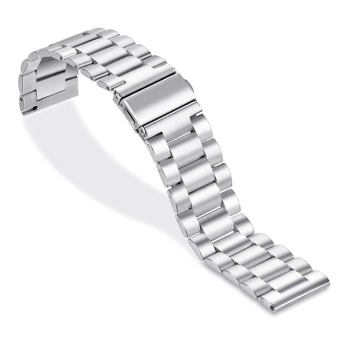 Ремешок стальной шириной 20мм универсальный для смарт-часов от BeWatch Silver (1110405)