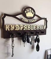 Фамильная настенная ключница для дома с короной.