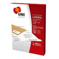 Бумага клейкая Uni Labels 210 х 297 1 шт на листе