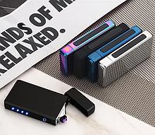Металева сенсорна USB запальничка з Led індикатором заряду.Електроімпульсна запальничка+подарункова упаковці