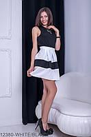 Жіноча спідниця Подіум Rivina 12380-WHITE/BLACK XS Білий