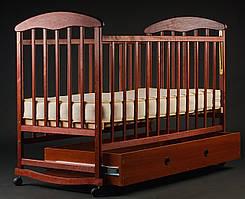 """Дитяче ліжечко """"Наталка"""" з шухлядою темне"""
