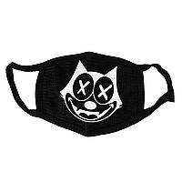 Маска тканевая Geekland Кот Феликс Cat Felix чёрная MS 067