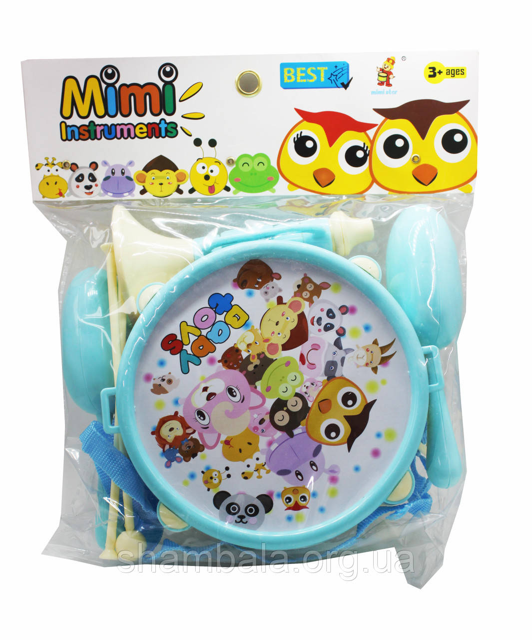 "Музыкальный барабан Baby toys ""Mimi insstruments"" голубой (067858)"