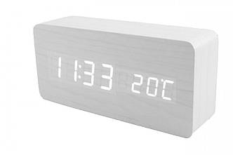 Электронный настольные часы LED WOODEN CLOCK VST SL - 615-1 прямоугольный